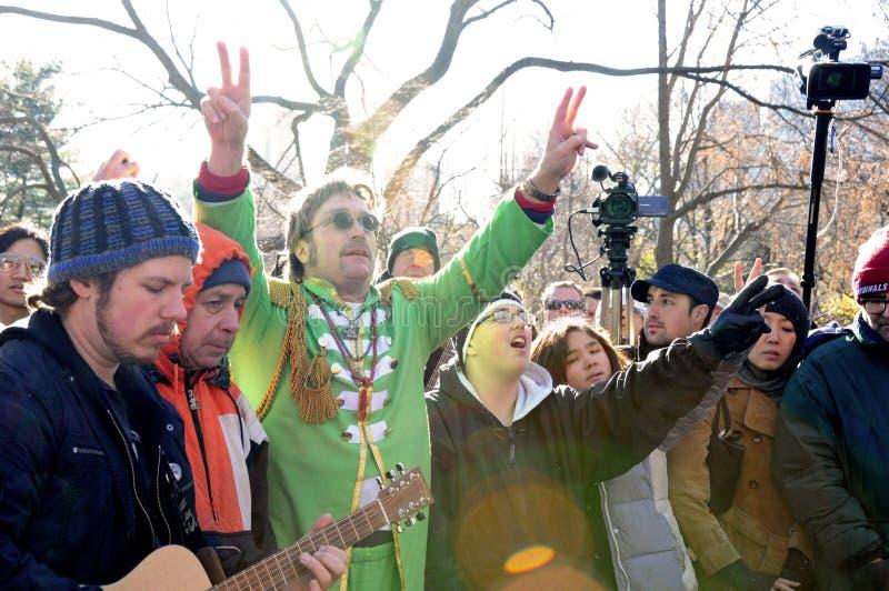 Hommage au musicien légendaire John Lennon de Beatles photo stock