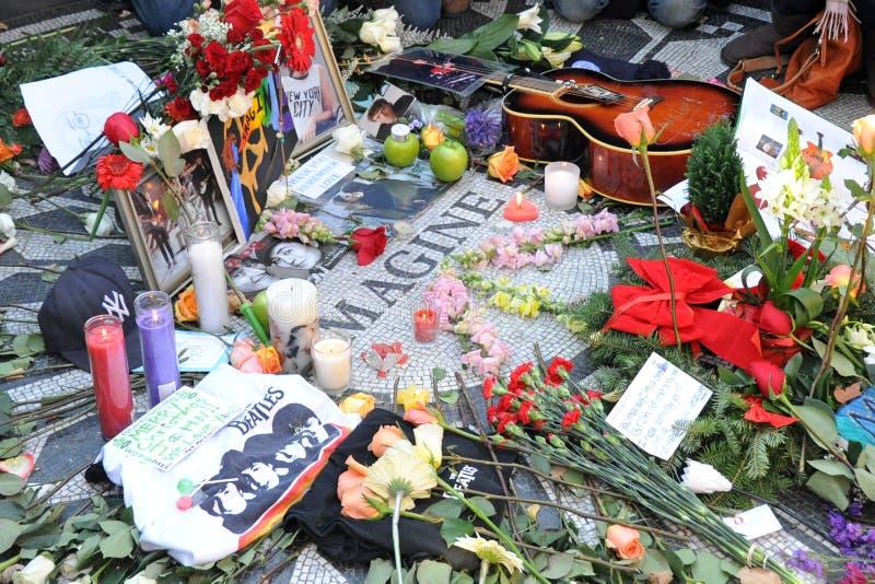 Hommage au musicien légendaire John Lennon de Beatles photos stock