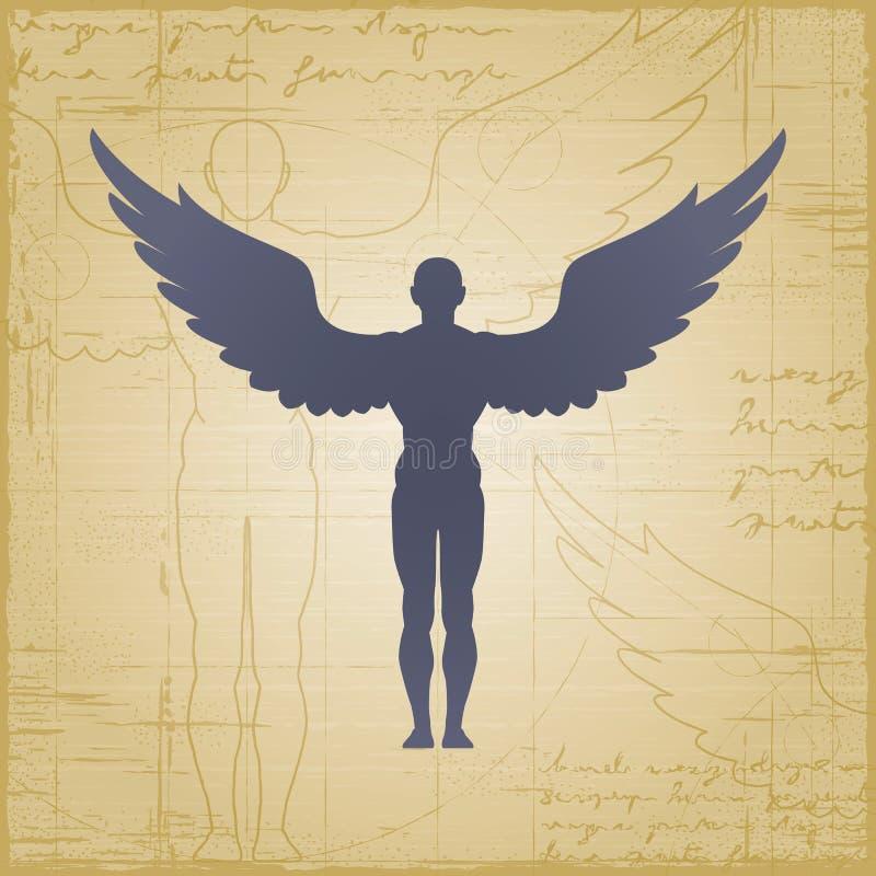 Homme à ailes illustration stock