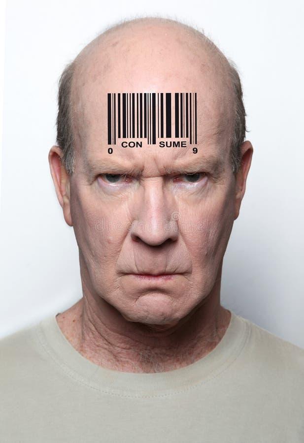 Homme à code à barres image libre de droits
