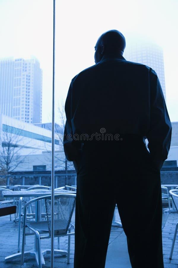 Homme à l'hublot. images libres de droits