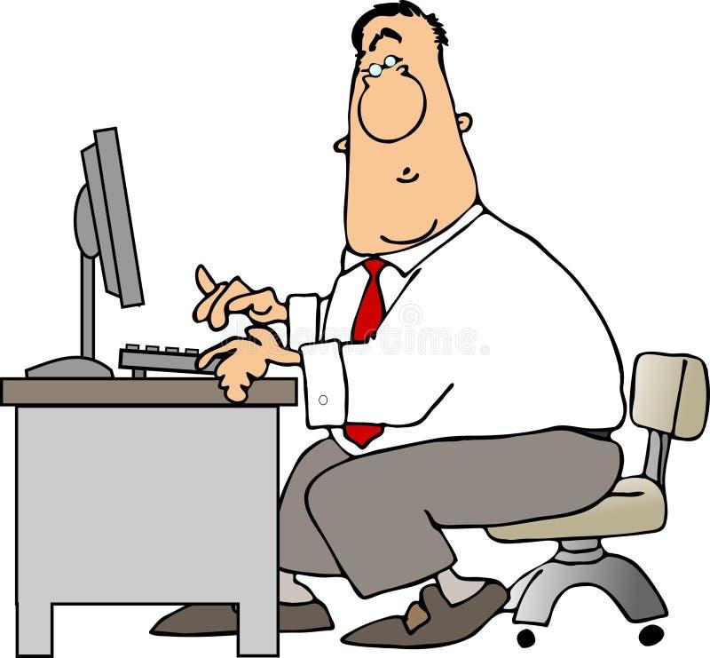 Homme à un bureau illustration stock