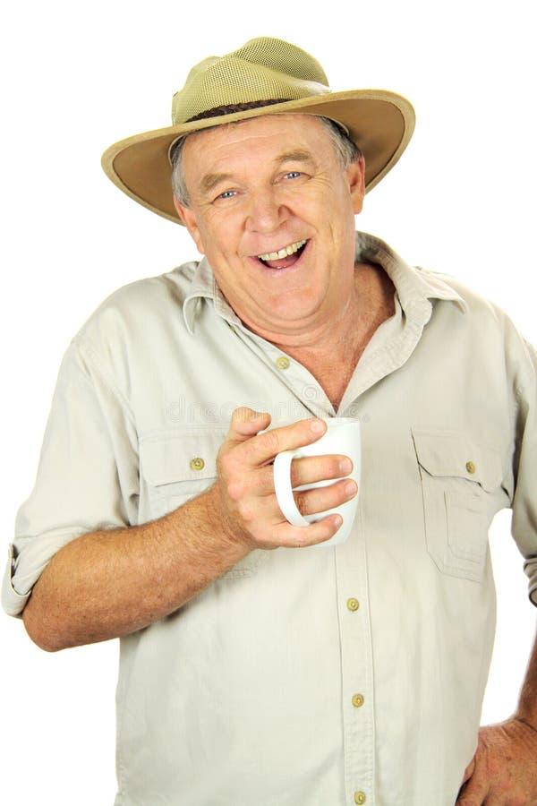 Homme âgé moyen occasionnel image stock