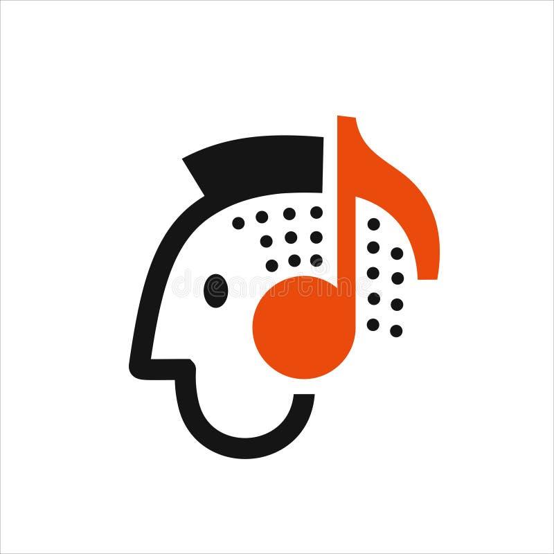 Homme écoutant la musique illustration libre de droits