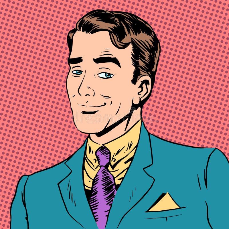 Homme élégant un amour de flirt de monsieur l'art de regard illustration de vecteur