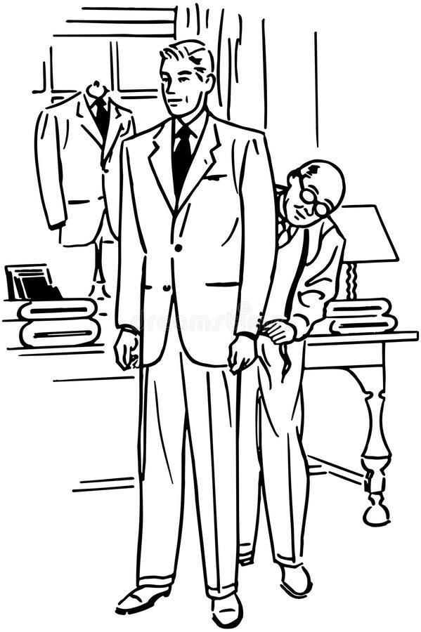 Homme étant adapté pour le costume illustration de vecteur
