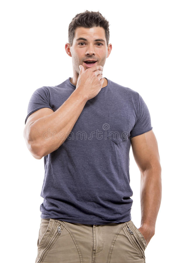 Homme étonné photo stock