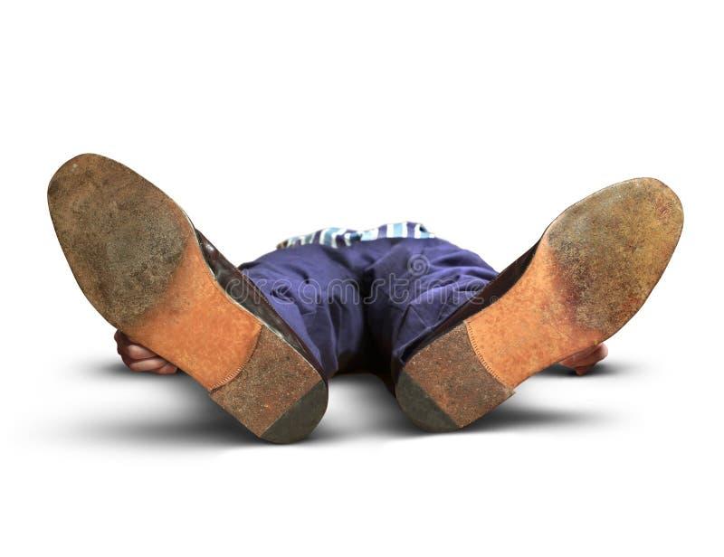Homme évanoui photo libre de droits