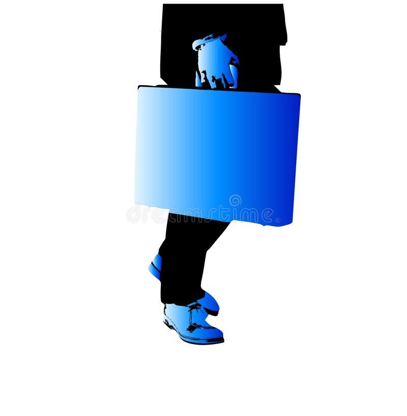 Homme 3 d'affaires illustration de vecteur