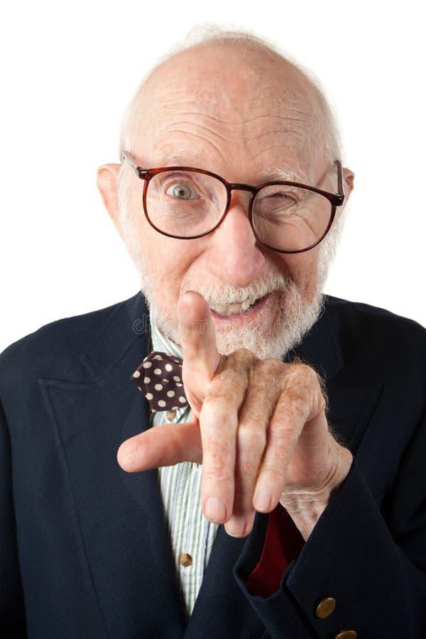 Homme aîné désagréable photos libres de droits