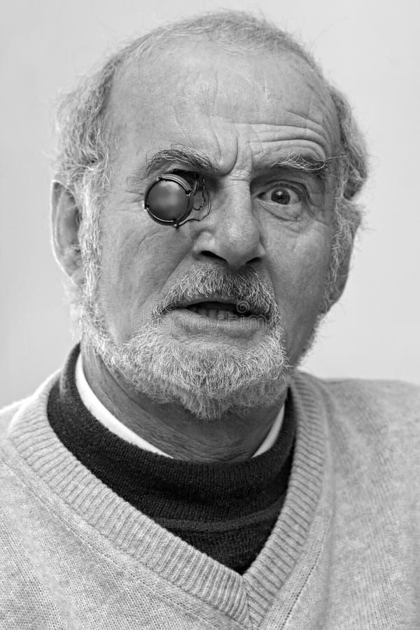 Homme aîné drôle photo libre de droits