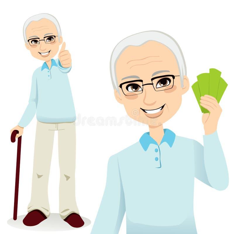 Homme aîné heureux illustration libre de droits