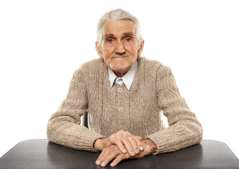 Homme aîné heureux images stock