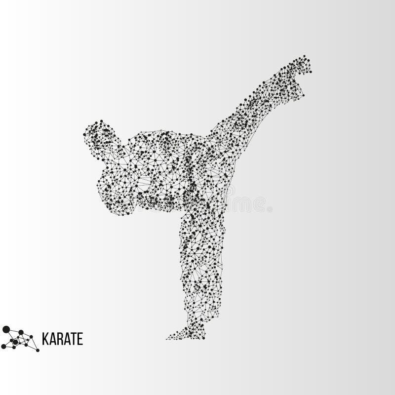 Homme abstrait de karaté illustration stock