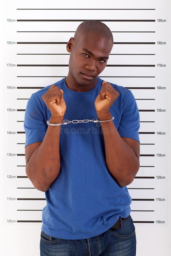 Homme africain arrêté photos stock