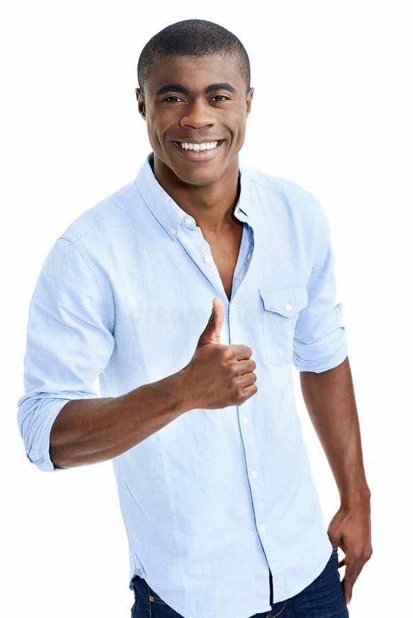 Download Homme africain positif photo stock. Image du type, célébrez - 45369126