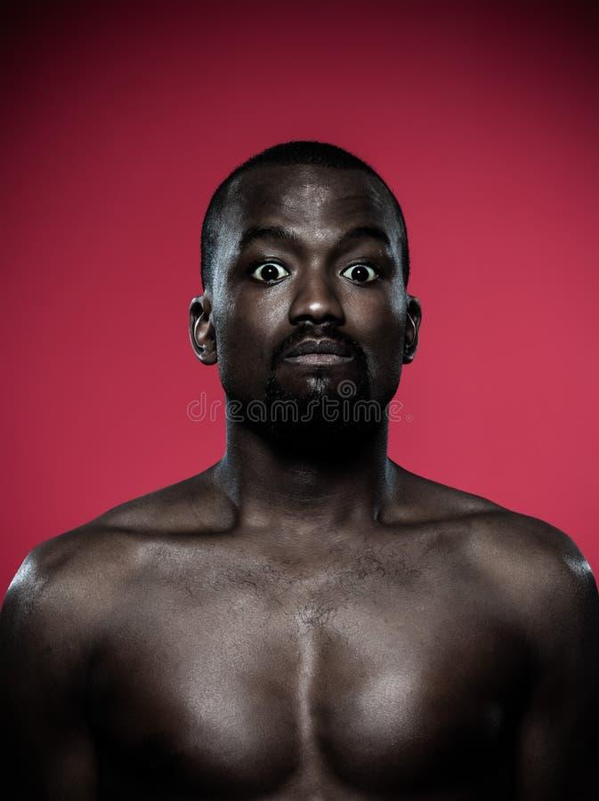 Homme africain sourd-muet image stock