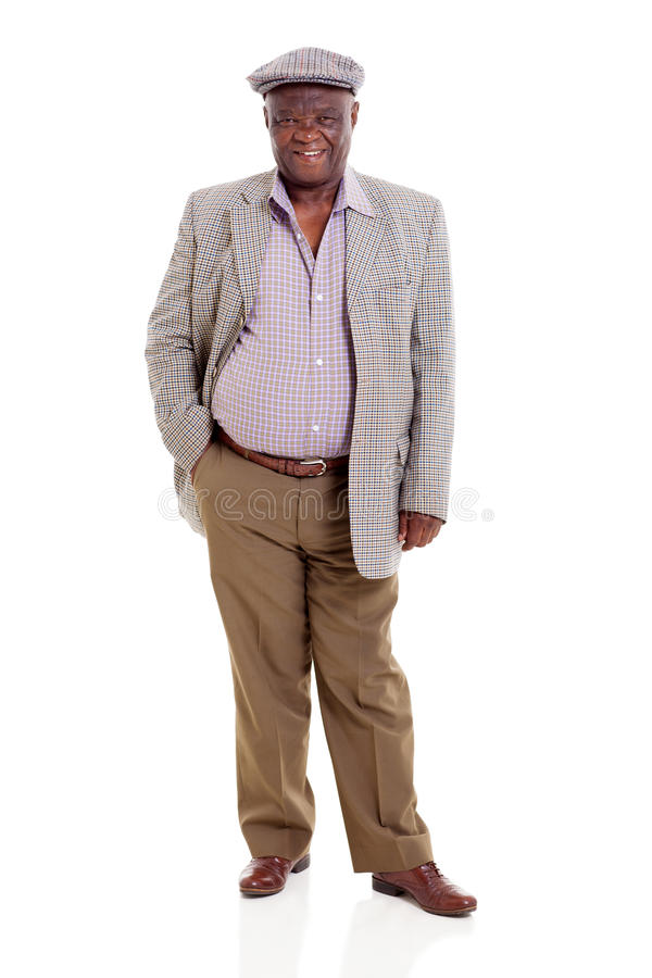 Homme africain supérieur photographie stock