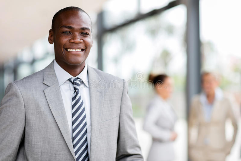 Homme afro-américain d'affaires image libre de droits