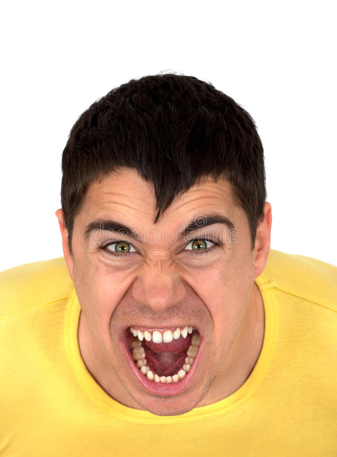 Homme agressif photos stock