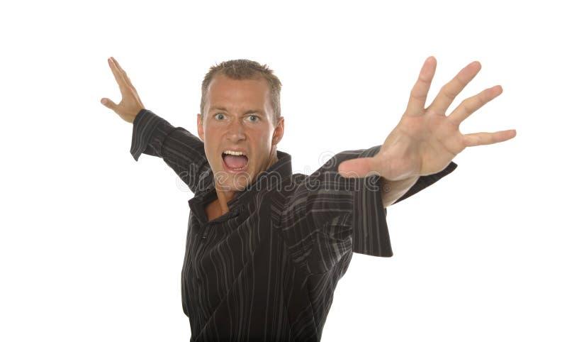 Homme agressif photo stock