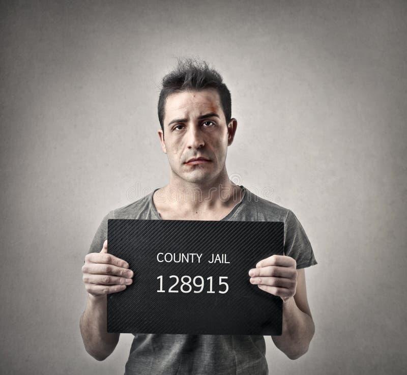 Homme allant emprisonner image libre de droits
