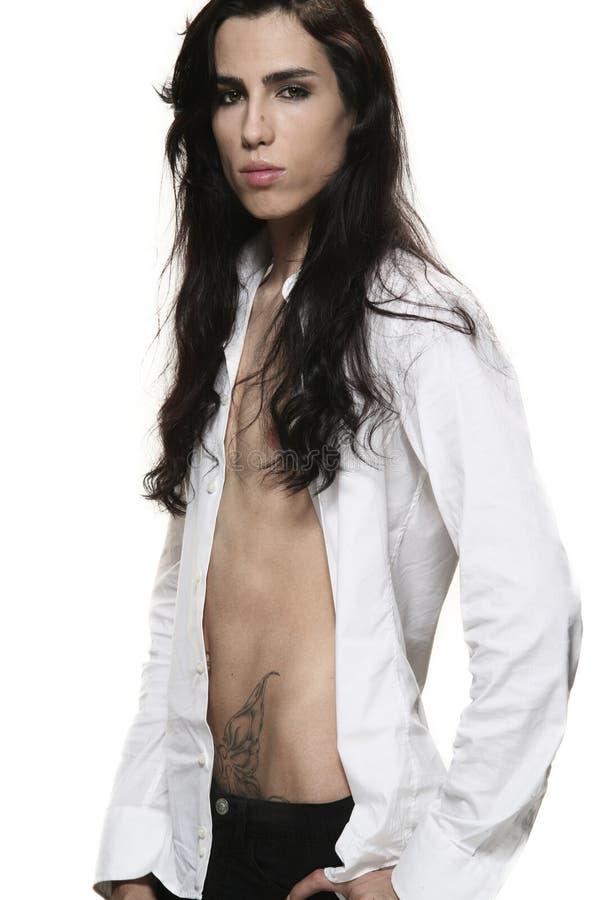 homme androgyne photo libre de droits