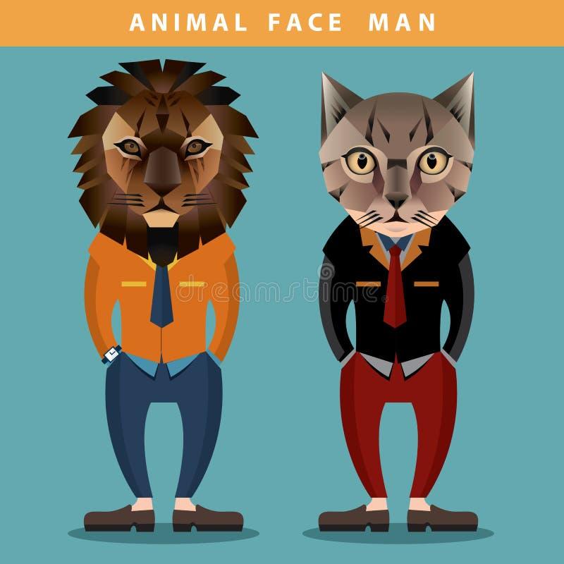 Homme animal de visage photo libre de droits