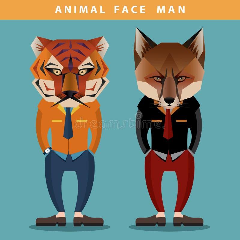 Homme animal de visage images libres de droits