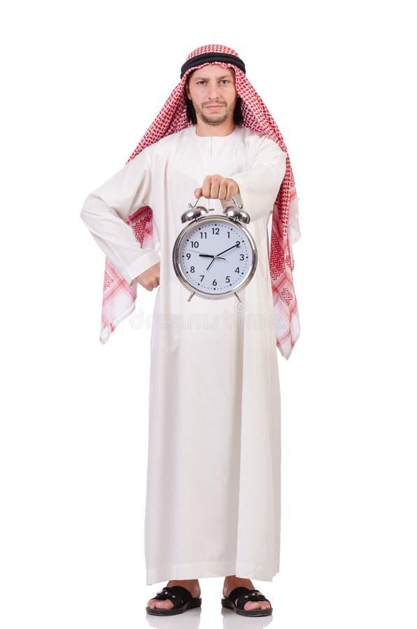 Homme arabe dans le concept de temps images libres de droits