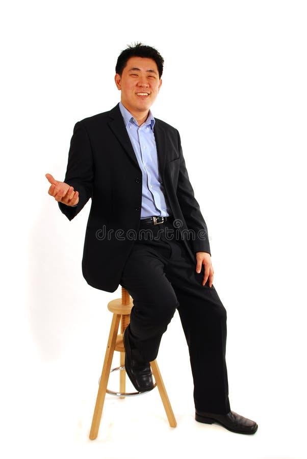 Homme asiatique d'affaires image stock