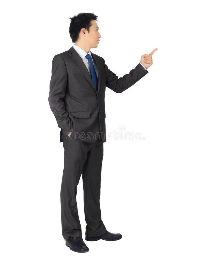 Homme asiatique d'affaires sur le blanc. images stock