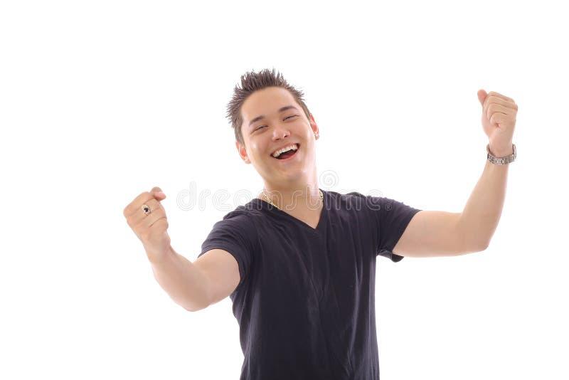Homme asiatique OUI photo stock