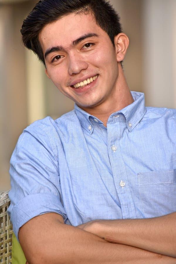 Homme asiatique têtu photos stock
