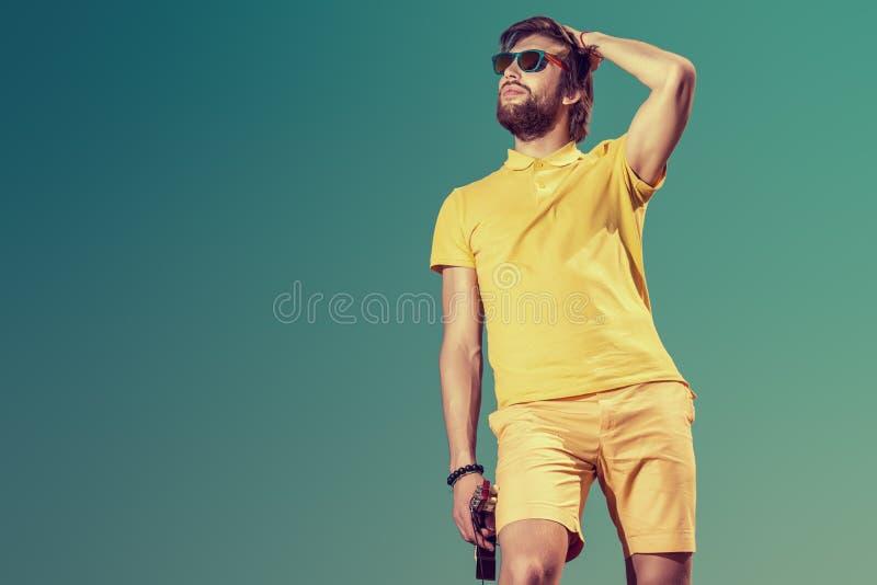 Homme attirant photo stock