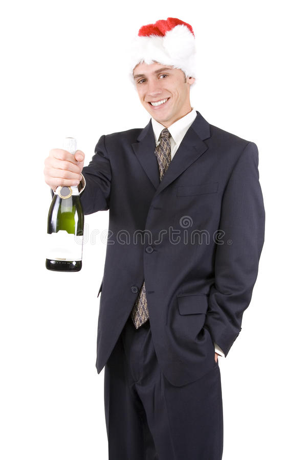Homme avec Champagne photo libre de droits