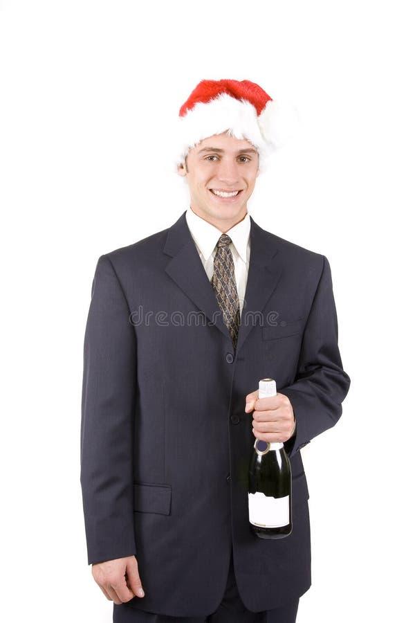 Homme avec Champagne images libres de droits