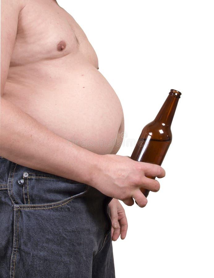 Homme avec de l'alcool photographie stock