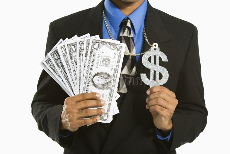 Homme avec de l'argent. images libres de droits