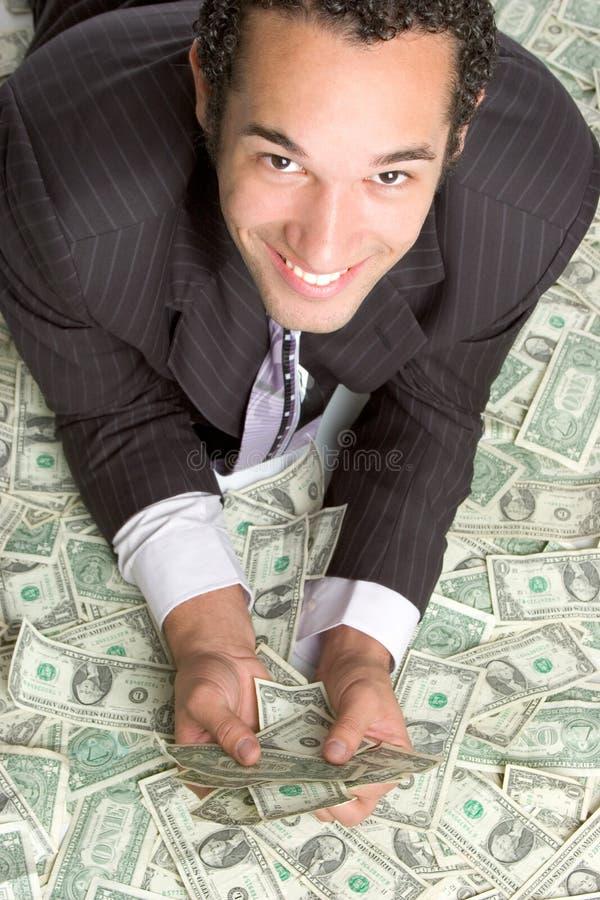 Homme avec de l'argent images libres de droits