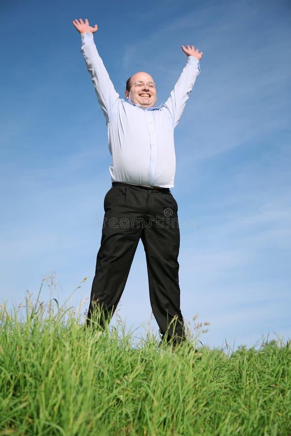 Homme avec des mains vers le haut photos libres de droits