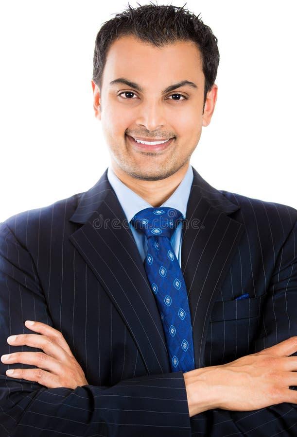 Homme avec du charme dans un costume photos stock