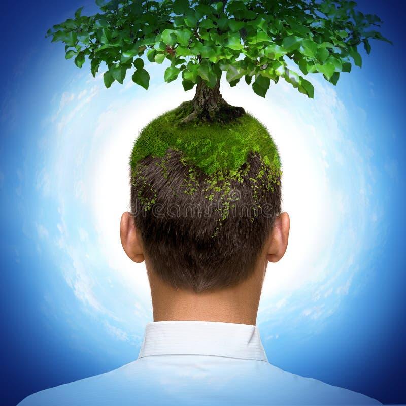 Homme avec l'arbre illustration libre de droits
