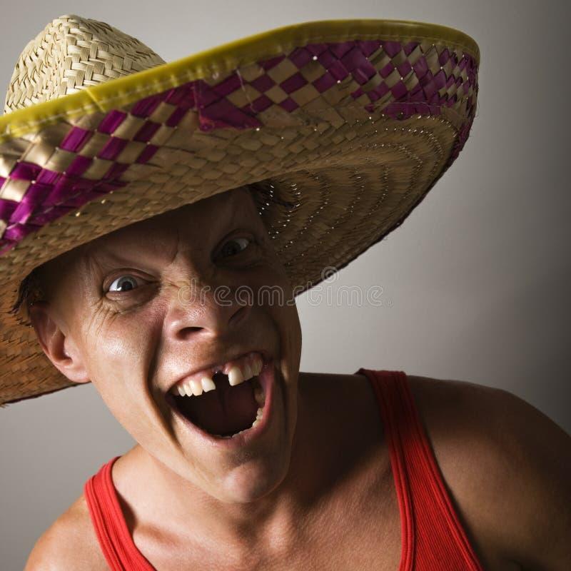 Homme avec l'expression drôle. photographie stock libre de droits