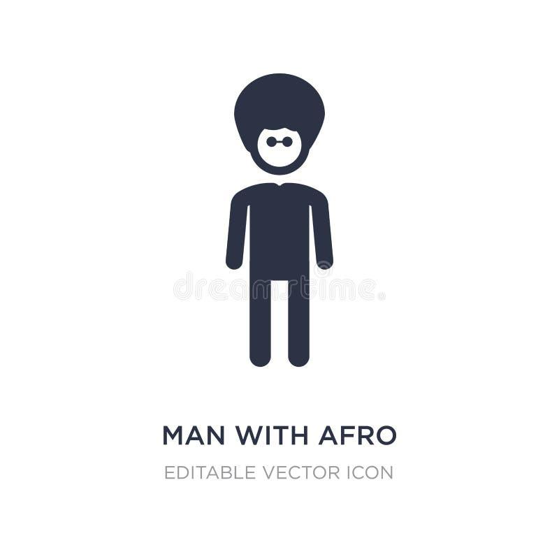 homme avec l'icône Afro de coiffure sur le fond blanc Illustration simple d'élément de concept de personnes illustration libre de droits
