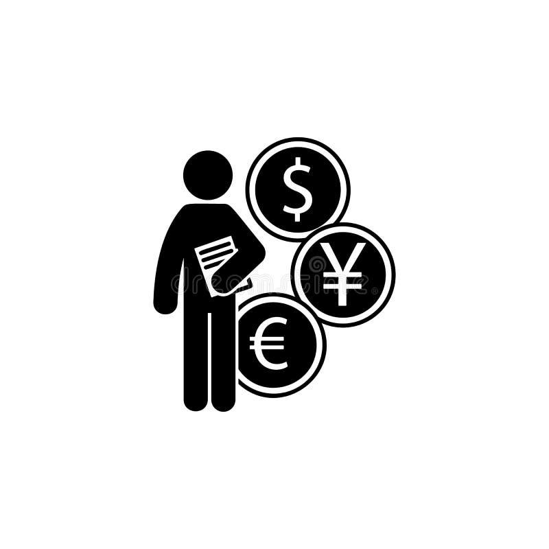homme avec l'icône de degré de finances Élément de l'homme avec l'icône de degré d'étudiant pour les apps mobiles de concept et d illustration de vecteur
