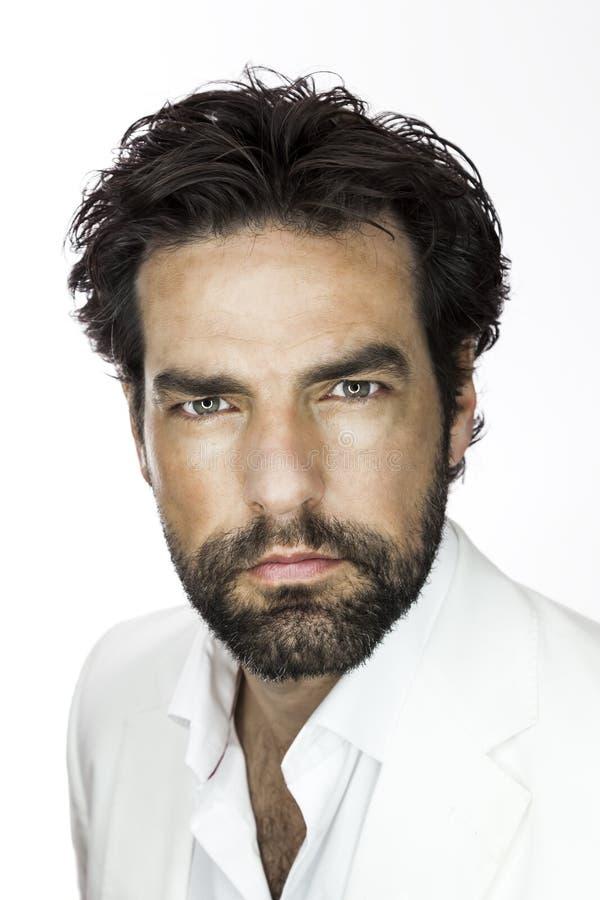 Homme avec la barbe images libres de droits