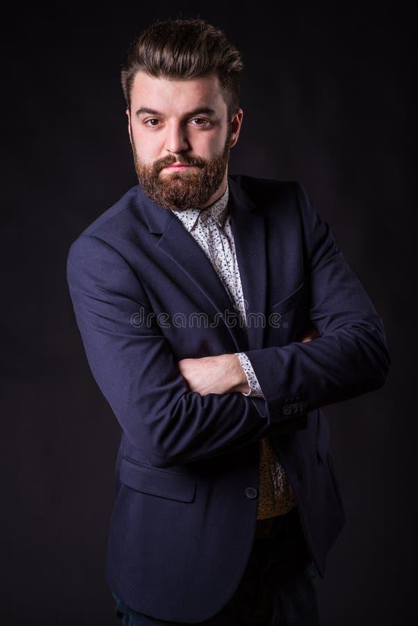 Homme avec la barbe, portrait de couleur image libre de droits