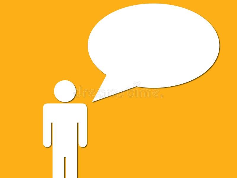 Homme avec la bulle de conversation illustration de vecteur