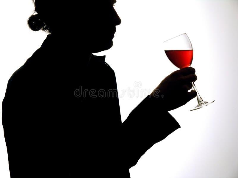 Homme avec la glace de vin photos libres de droits